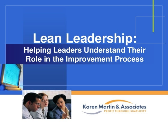 Lean Leadership: Helping Leaders Understand Their Role in the Improvement Process  Company  LOGO