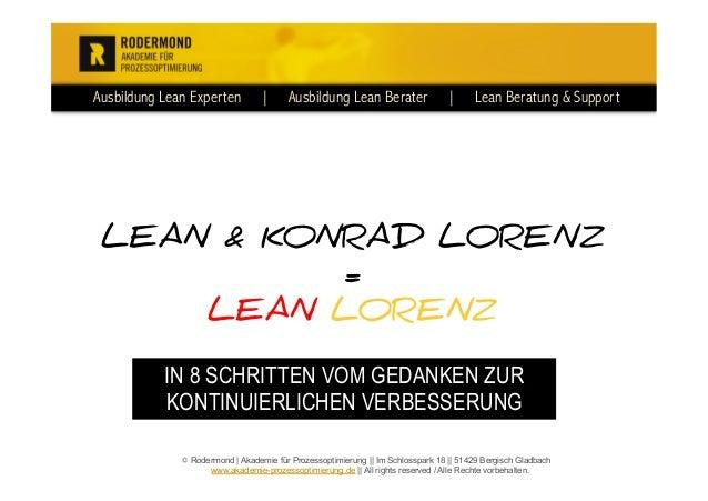 Ausbildung Lean Experten | Ausbildung Lean Berater | Lean Beratung & Support © Rodermond | Akademie für Prozessoptimierung...
