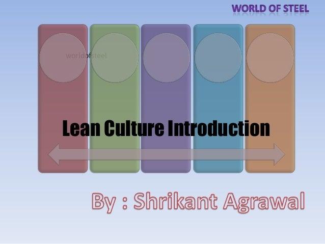 worldofsteelLean Culture Introduction