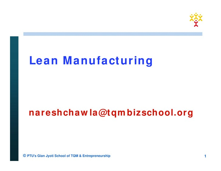 Lean Manufacturing : Concept & Overview