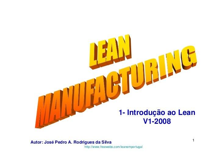 1- Introdução ao Lean                                                         V1-2008                                     ...