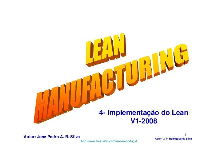 Lean manufacturing   4-implementação