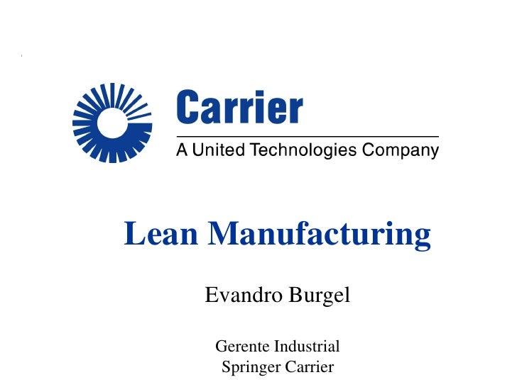 CAEMP - XIII SEMANA ACADÊMICA - Lean Manufacturing Springer