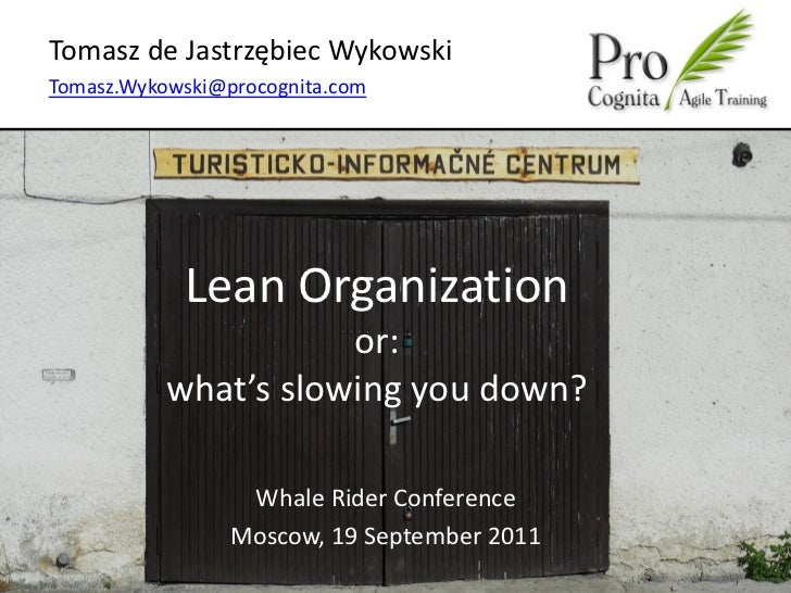 Lean Organization or what is slowing you down?