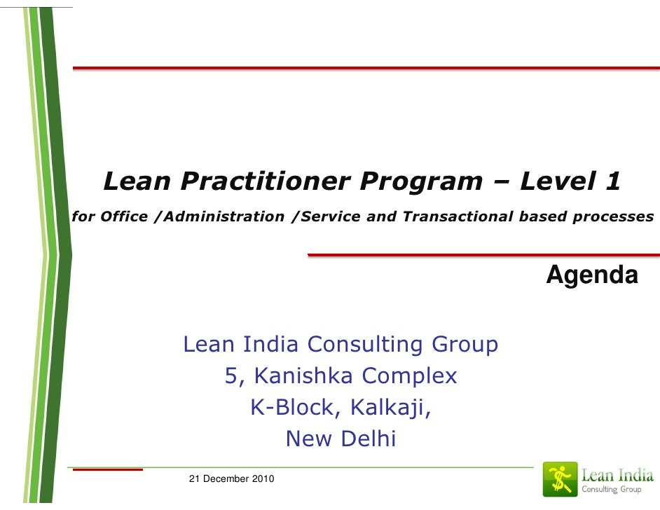 Lean practitioner transactional_pune