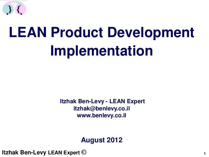 Lean product development implementation