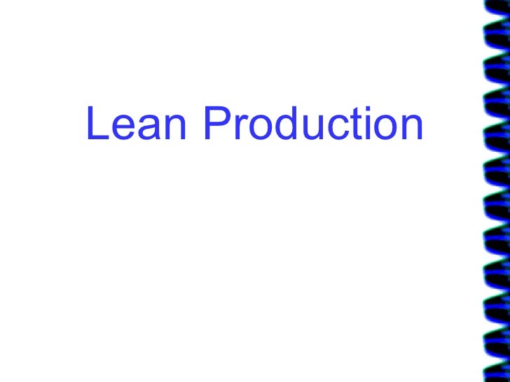 Lean Production