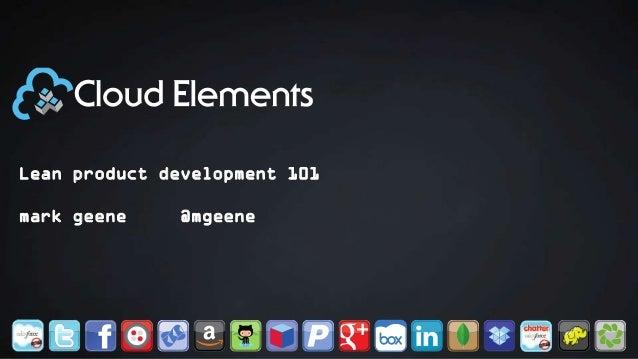 Lean Product Development 101