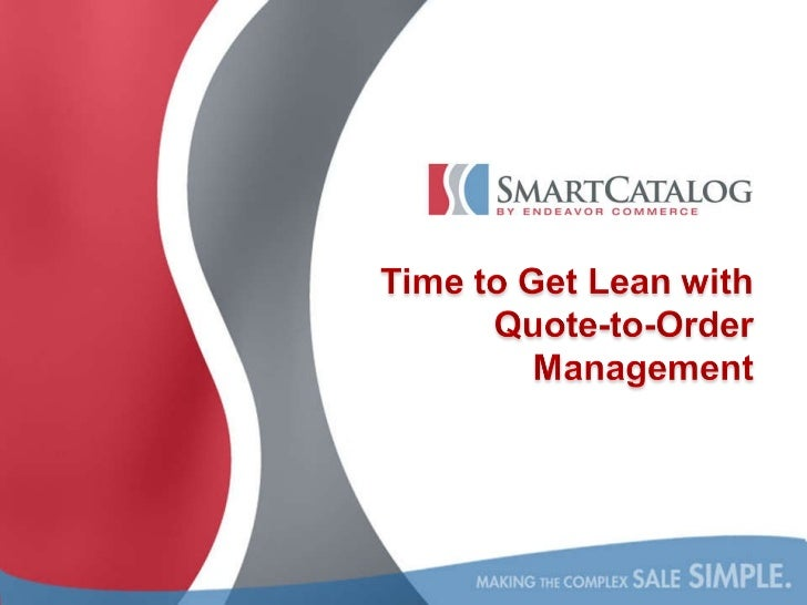 Lean quote to order   SalesLogix