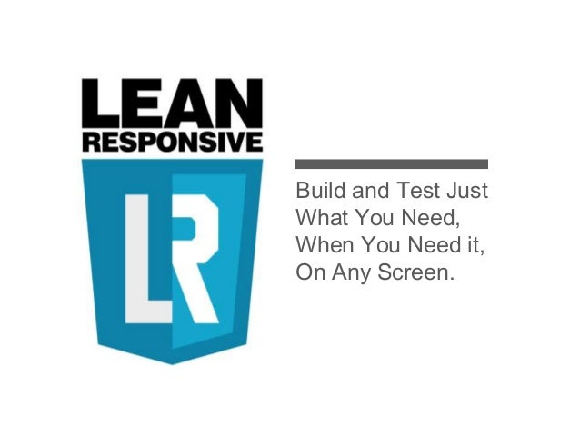 Lean responsive - Expanded