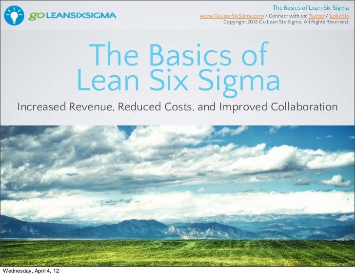 Lean Six Sigma Basics