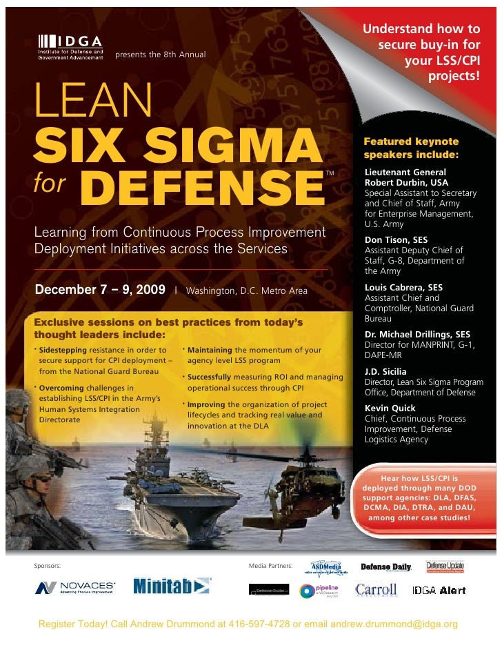 Lean Six Sigma For Defense 2009