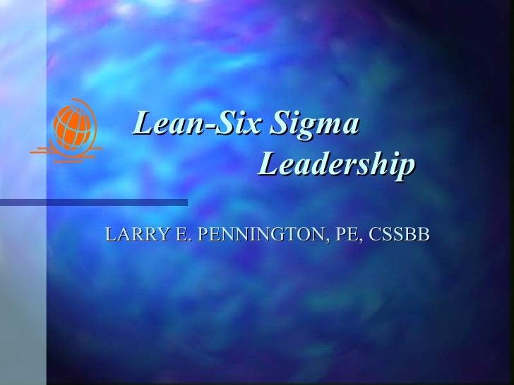 Lean Six Sigma Leadership 062507
