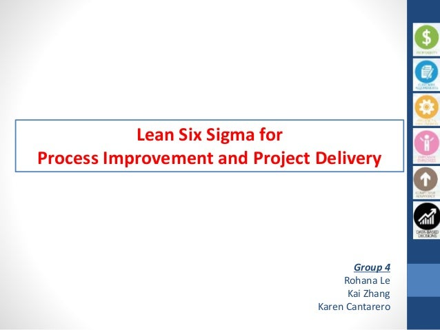 Lean Six Sigma for Process Improvement and Project Delivery Group 4 Rohana Le Kai Zhang Karen Cantarero