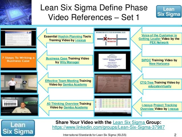 lean six sigma reference material