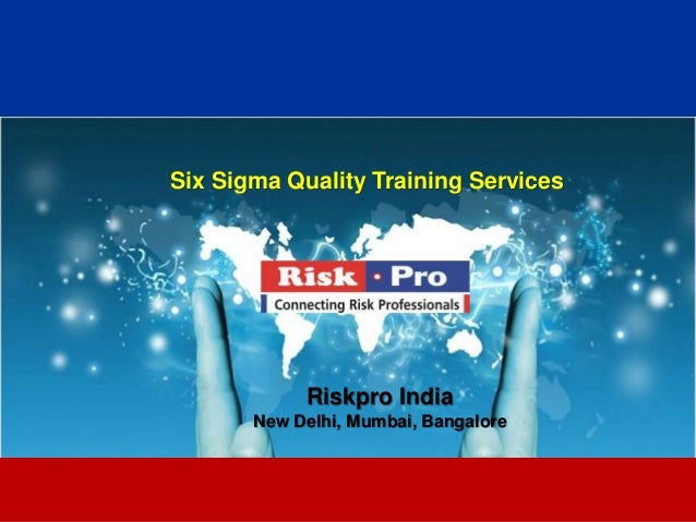 Lean six sigma training services 2013