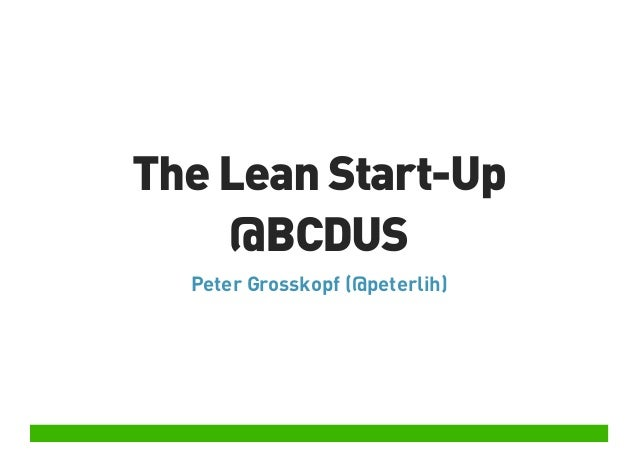 The Lean Start-Up @ Barcamp Düsseldorf