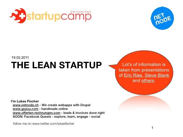 The Lean Startup - Basics