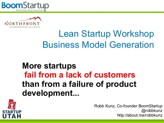 Robb Kunz, Co-founder BoomStartup @robbkunz http://about.me/robbkunz More startups fail from a lack of customers than from...