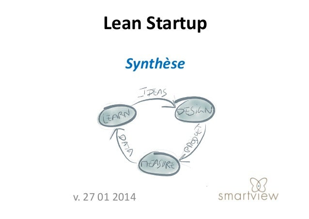 Lean Startup Synthèse  v. 27 01 2014