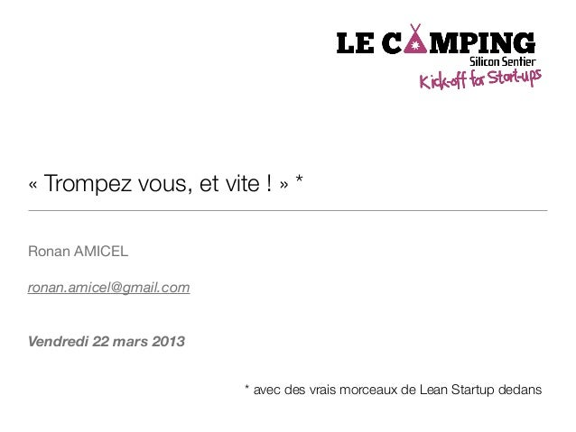 Lean startup camping