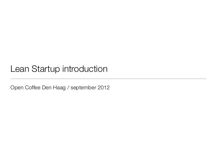 Leanstartup introduction