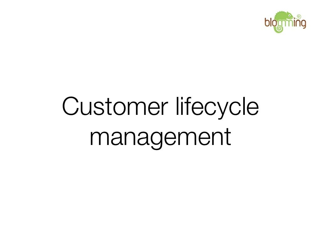 Customer Life-cycle Management