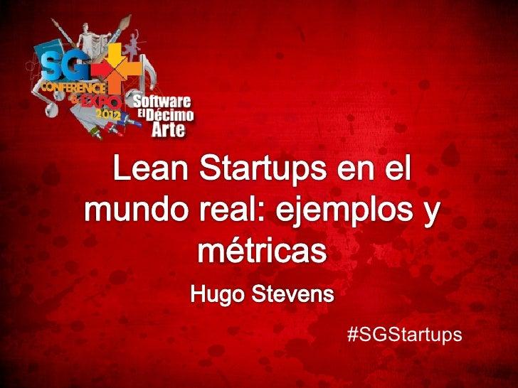 Lean startups en el mundo real  ejemplos y metricas