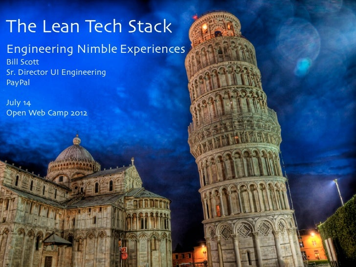 The Lean Tech Stack