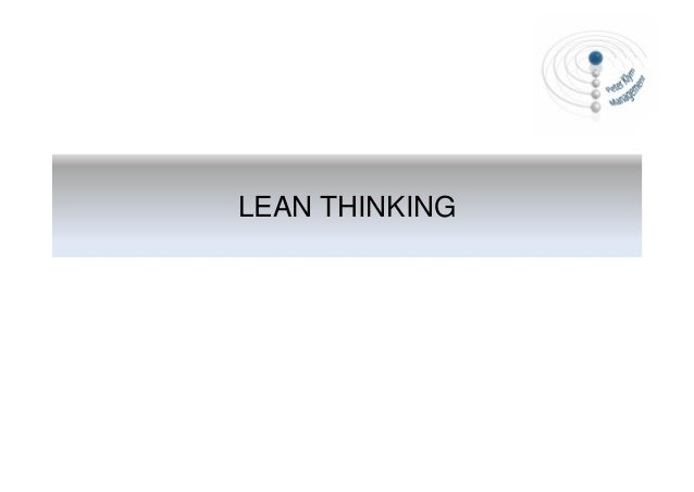 Lean Thinking - An Introduction to Lean