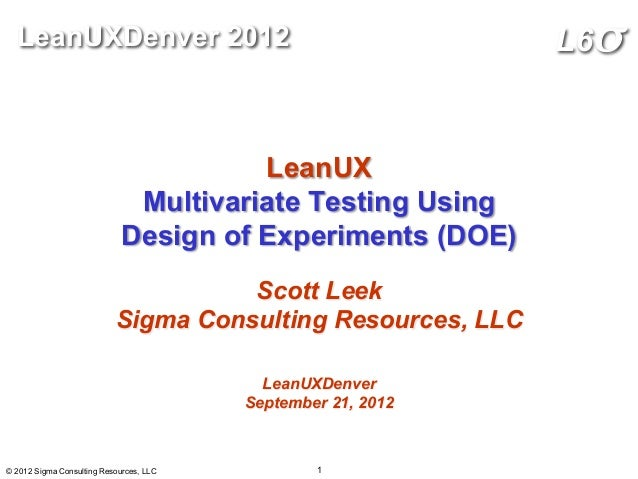LeanUX: Online Design of Experiments