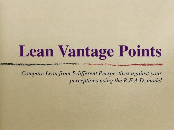 Lean Vantage Points
