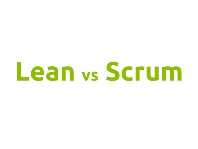 Lean vs Scrum