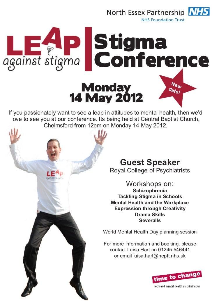 Stigma                                  Conference                          Monday                                        ...