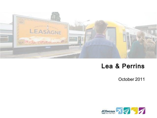 Lea & Perrins October 2011