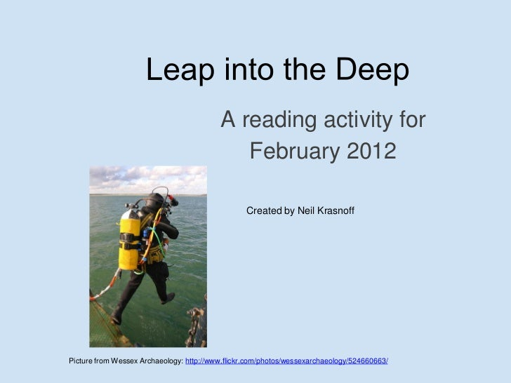 Leap into the deep