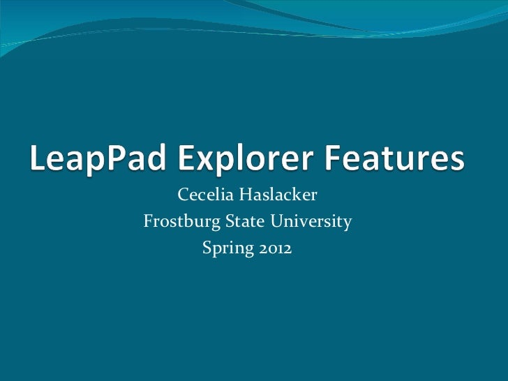 Leap pad explorer features 1