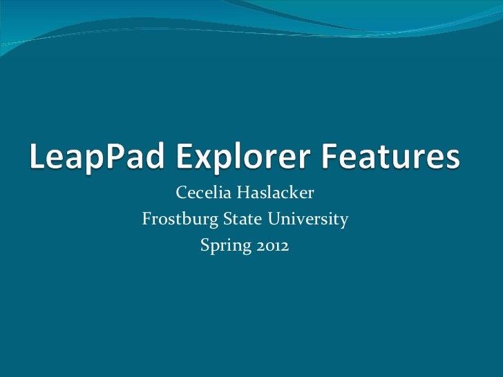 Leap pad explorer features 1