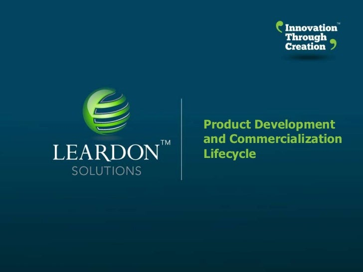 Leardon Solutions Product Development and Commercialization Lifecycle
