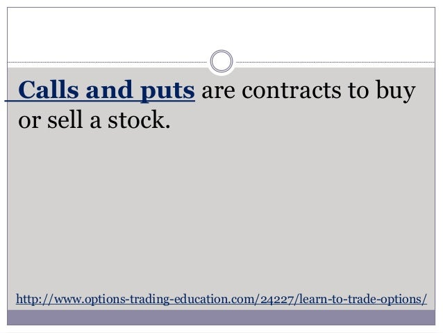 Learn how to trade options free