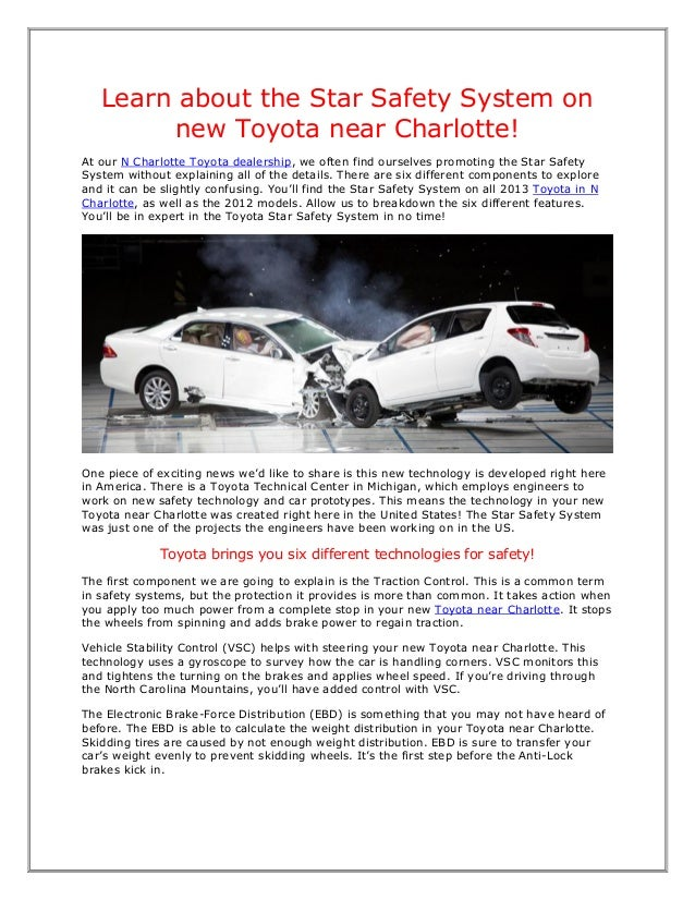 Learn about the Star Safety System on        new Toyota near Charlotte!At our N Charlotte Toyota dealership, we often find...