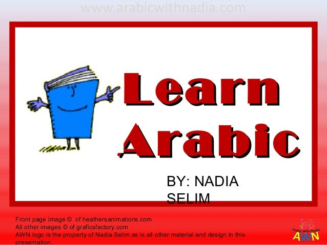 Learn                                     Arabic                                                      BY: NADIA           ...