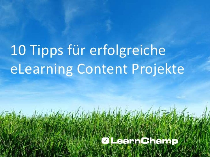 10 Tipps für erfolgreiche eLearning Content Projekte<br />