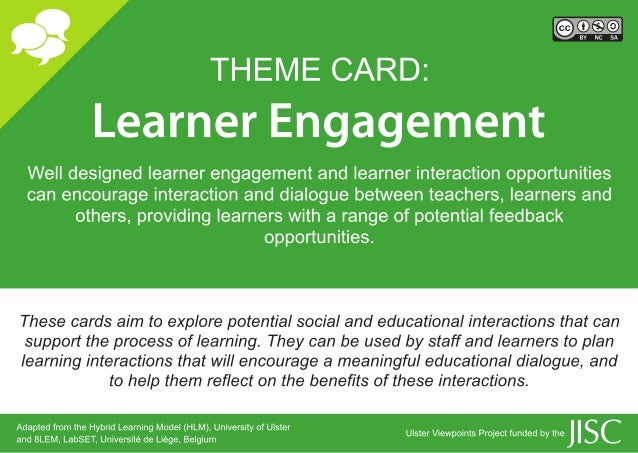 Learner Engagement Cards