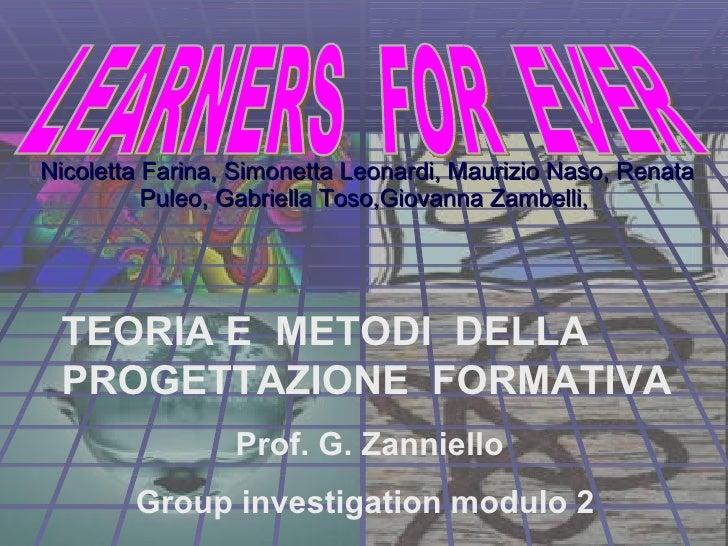 Nicoletta Farina, Simonetta Leonardi, Maurizio Naso, Renata Puleo, Gabriella Toso,Giovanna Zambelli, TEORIA E  METODI  D...