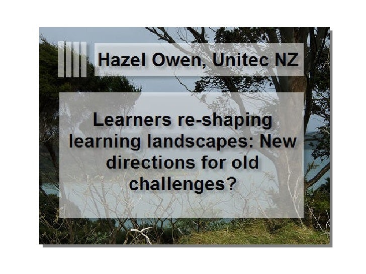 Learners Reshaping Learning Landscapes Owen