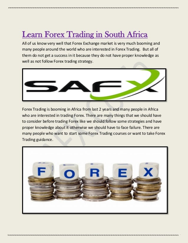 Forex trading brokers in south africa