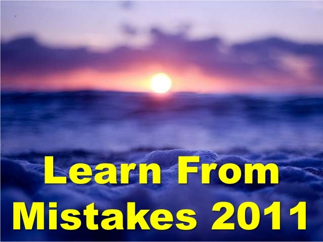 Learn FromMistakes 2011