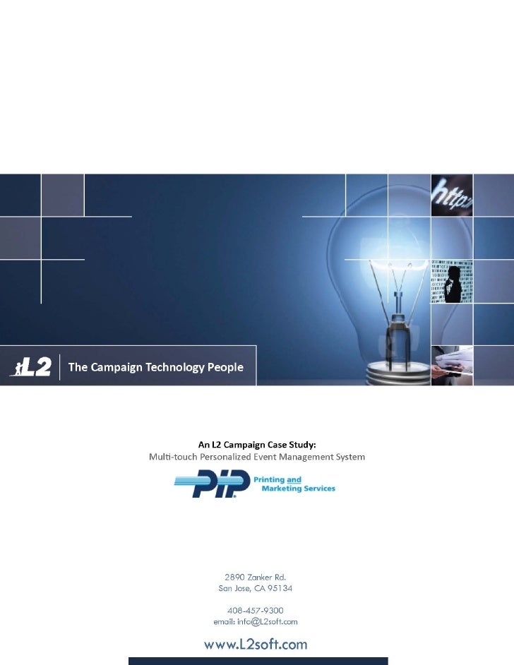 PIP printing and services case study: Event management system