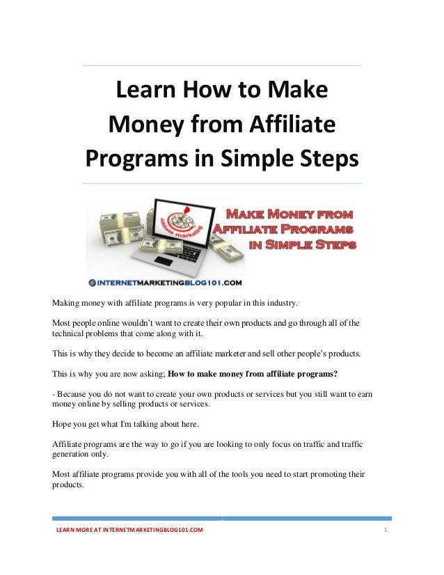 How to Make Money With Affiliate Marketing - How to Create